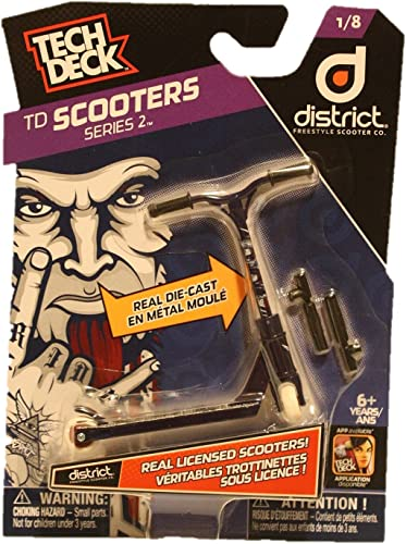 Tech Deck TD Scooters Series 2 District Freestyle Scooter Co. Scooters 1 8 by Tech Deck