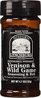 Historic Lynchburg Tennessee Whiskey Venison & Wild Game Seaoning & Rub 4.7 Oz. Jar