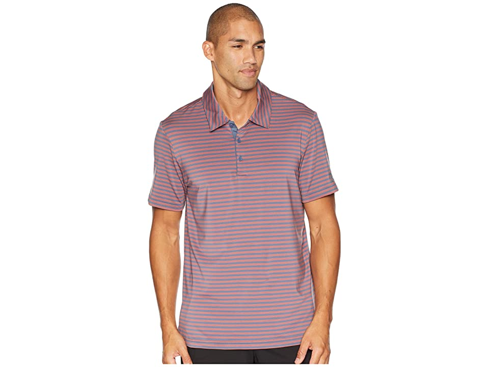 adidas Golf Ultimate 2-Color Stripe Polo (Tech Ink/Raw Amber) Men