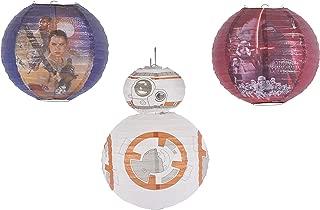 American Greetings Star Wars Episode VII Paper Lantern Decoration, 3-Count