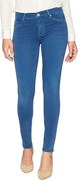 Nico Mid-Rise Ankle Super Skinny in Dusted Sapphire