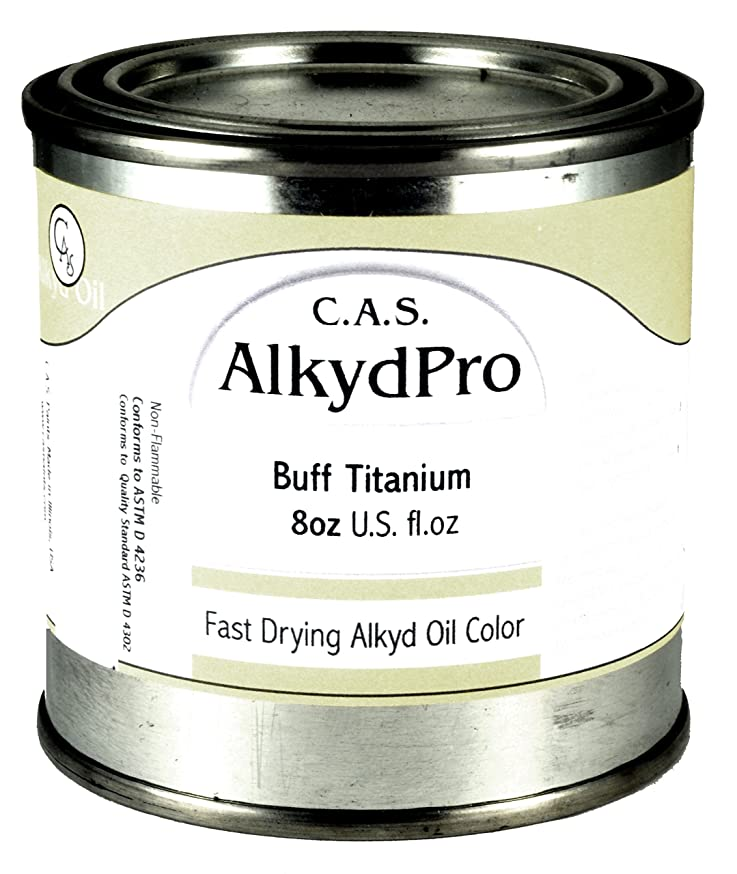 C.A.S. Paints AlkydPro Fast-Drying Oil Color Paint Can, 8-Ounce, Buff Titanium