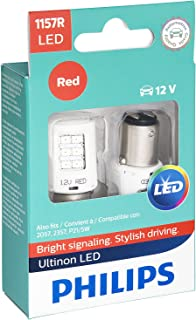 Philips 1157RLED Ultinon LED Bulb (Red), 2 Pack