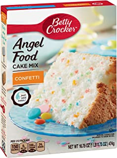 Betty Crocker Angel Food Confetti Cake Mix, 16.75 Ounce -- 12 per case.