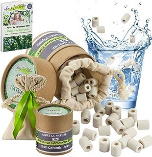 Aimez La Nature 35 Perles de Céramique EM® Avec Joli Pack Ecologique et Sachet Coton Certifié Bio, Purificateur Naturel Ea...