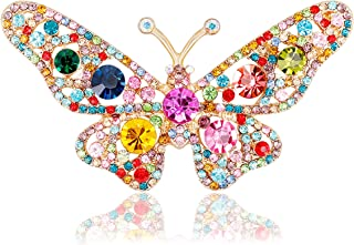 Austrian Crystal Cute Animal Butterfly Dragonfly Brooches Pins Corsages Scarf Clips