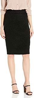 Women's Atlas Natural Waist Metallic Accent Rib Knit Sweater Skirt