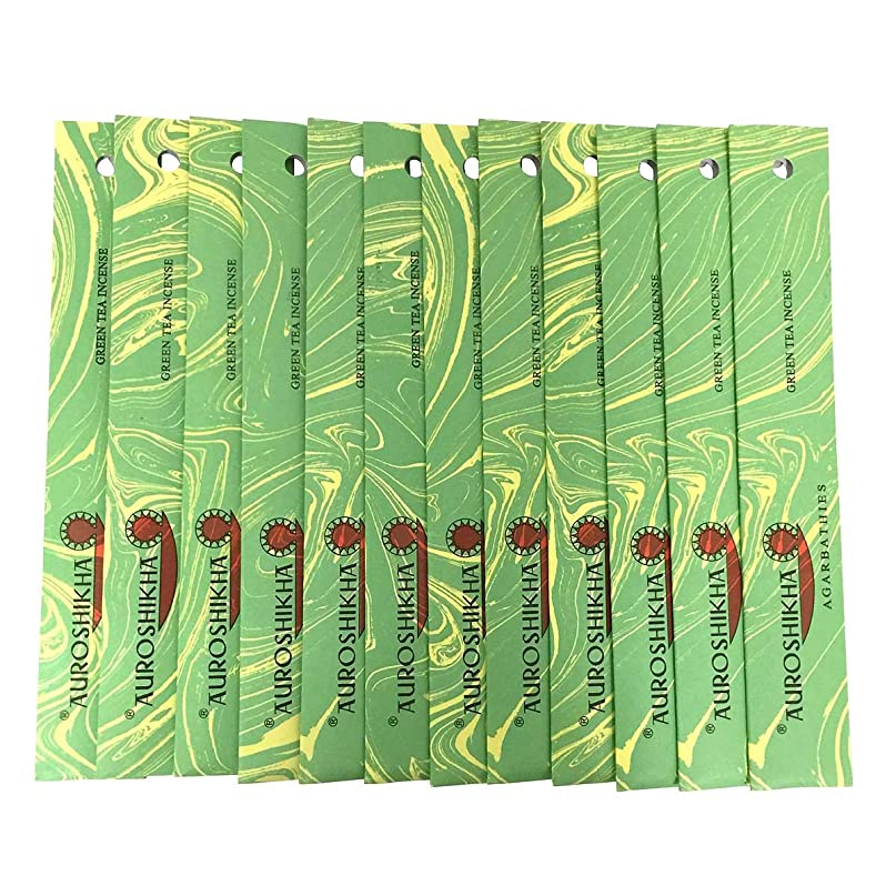 懺悔精査師匠AUROSHIKHA オウロシカ(GREENTEAグリーンティー12個セット) マーブルパッケージスティック 送料無料