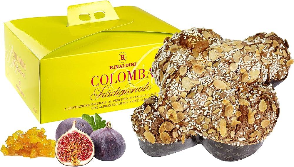 Rinaldini,colomba con albicocche semicandite e fichi, al profumo di vaniglia e agrumi di sicilia RI1130034