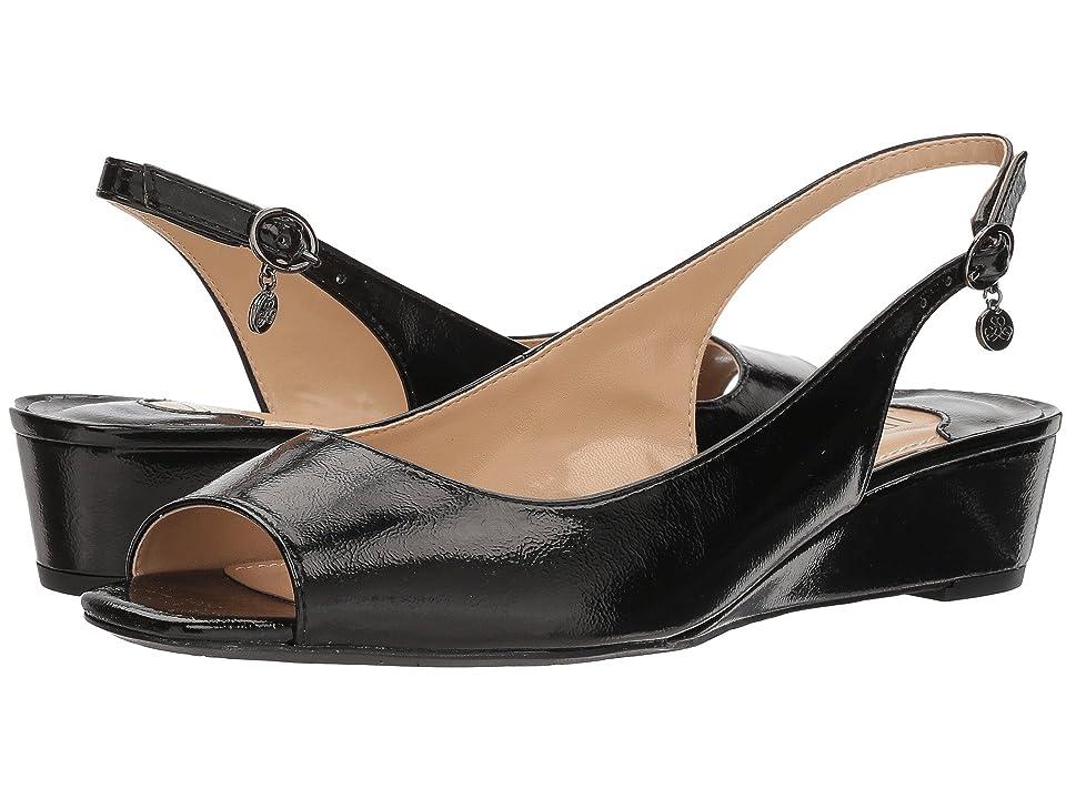 J. Renee Alivia (Black Crinkle) High Heels