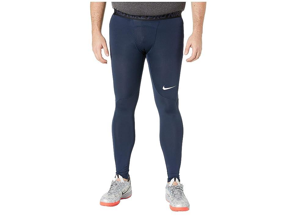 Nike Big Tall Pro Tights (Obsidian/White/White) Men