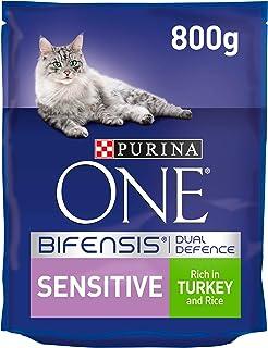 PURINA ONE 103940097 Sensitive Cat Turkey and Rice, 800 gm