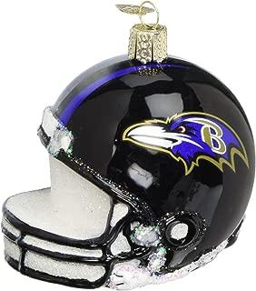 Old World Christmas Glass Ornament Baltimore Ravens Helmet