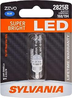 SYLVANIA - 2825 T10 W5W ZEVO LED Blue Bulb - Bright LED Bulb, Ideal for Interior Lighting (Contains 1 Bulb)