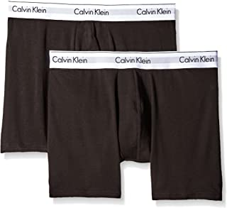 Calvin Klein Men's Underwear Modern Cotton Stretch 2 Pack Boxer Briefs, Black, Medium