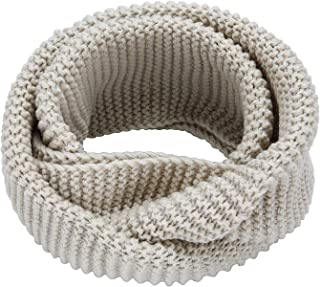MOTINE Women's Winter Thick Ribbed Knit Warm Circle Loop Infinity Scarf