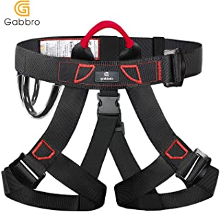 Gabbro Climbing Harness, Thickened Wider Safety Harness to Protect Waist, Safety Gear Climbing Rope for Fall Protection, Harness for Work at Height Fire Rescuing