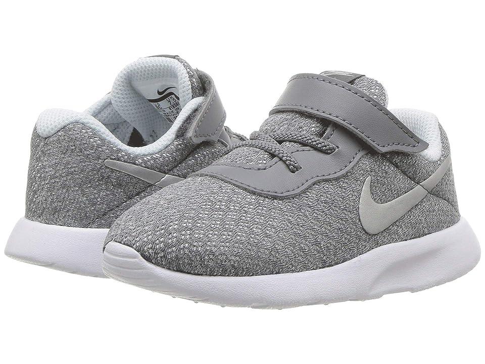 Nike Kids Tanjun (Infant/Toddler) (Cool Grey/Metallic Silver/Blue Tint) Girls Shoes