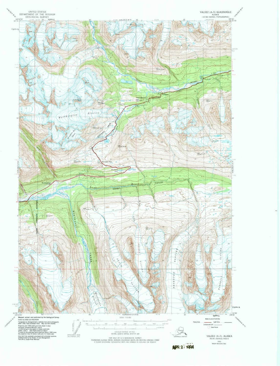 100% quality warranty Max 42% OFF YellowMaps Valdez A 5 AK topo X Scale Minute 1:63360 15 map