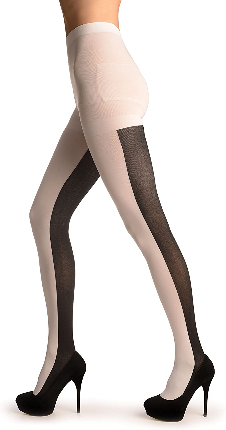 White & Black 2 Looks in One - Pantyhose (Tights)