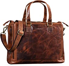 """STILORD """"Claire"""" Businesstasche Damen Leder 15 Zoll Laptoptasche DIN A4 Aktentasche Umhängetasche und Handtasche Büro, Farbe:Kara - Cognac"""