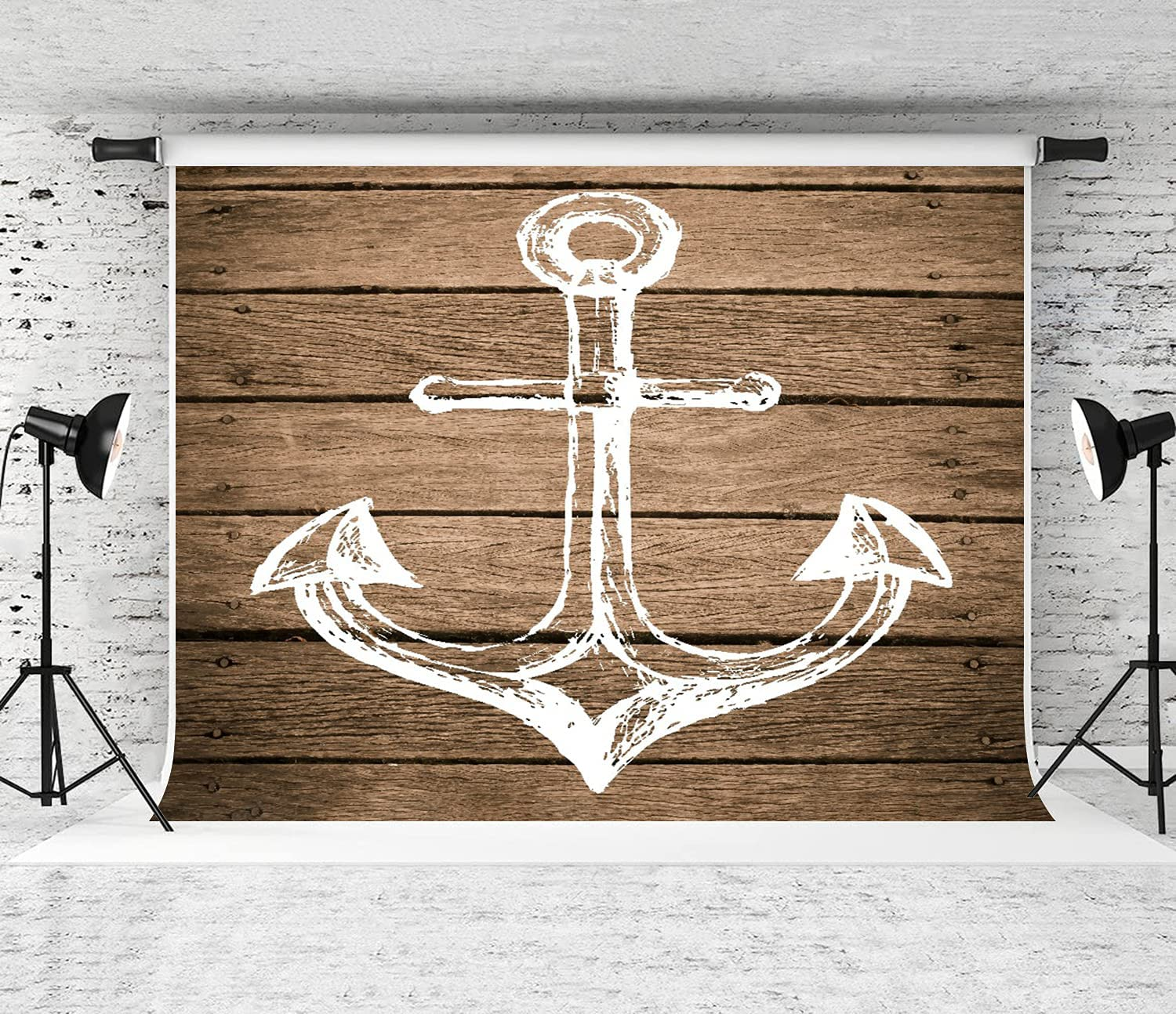 ZOANEN Photography Background Austin Mall Anchor Boating Hand Motif Elegant Drawing