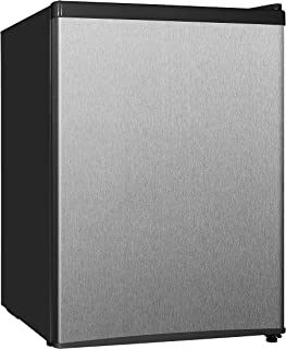 Midea WHS-87LSS1 Refrigerator, 2.4 Cubic Feet, Stainless Steel