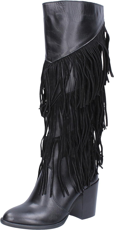 OLGA RUBINI Boots Womens Leather Black