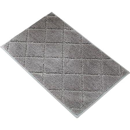ARNTY Tapis de Bain Antiderapant,Tapis de Douche Absorbant en Microfibre/Chenille Tapis Bain pour Salle de Bain,Cuisine,Toilette (Gris-Microfibre, 45x65cm)