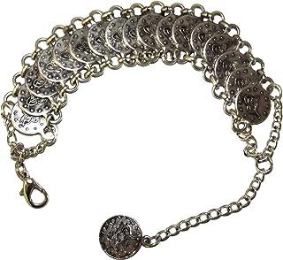 Brazalete pulsera monedas plata bollywood Mittelatler Wicca Gypsy