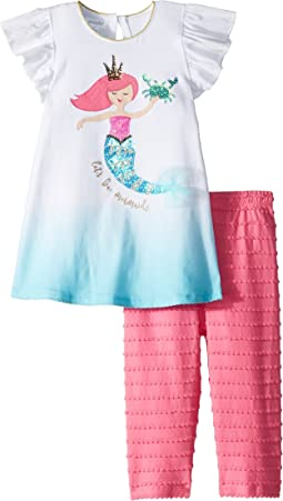 Mud Pie Mermaid Tunic and Capris Two-Piece Set (Infant/Toddler)