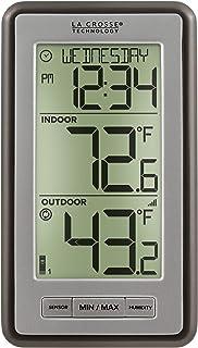 La Crosse Technology Indoor/Outdoor Temperature WS-9160U-IT Digital Thermometer, Titianium