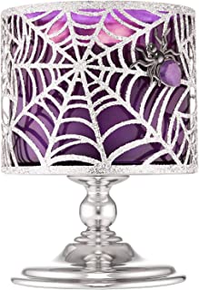 Bath and Body Works Sparkly Spider Web Pedestal 3-Wick Candle Holder (2019 Halloween Edition)