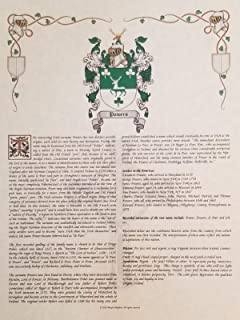 Lamb Coat of Arms, Family Crest & History 8.5x11 Print - Name Meaning Plus Genealogy, Family Tree Research - Surname Origin: Ireland/Irish