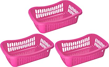YBM HOME Large Plastic Storage Basket for Organizing Kitchen Pantry, Countertop, Bathroom, Kids Room, Office Drawer, Junk ...