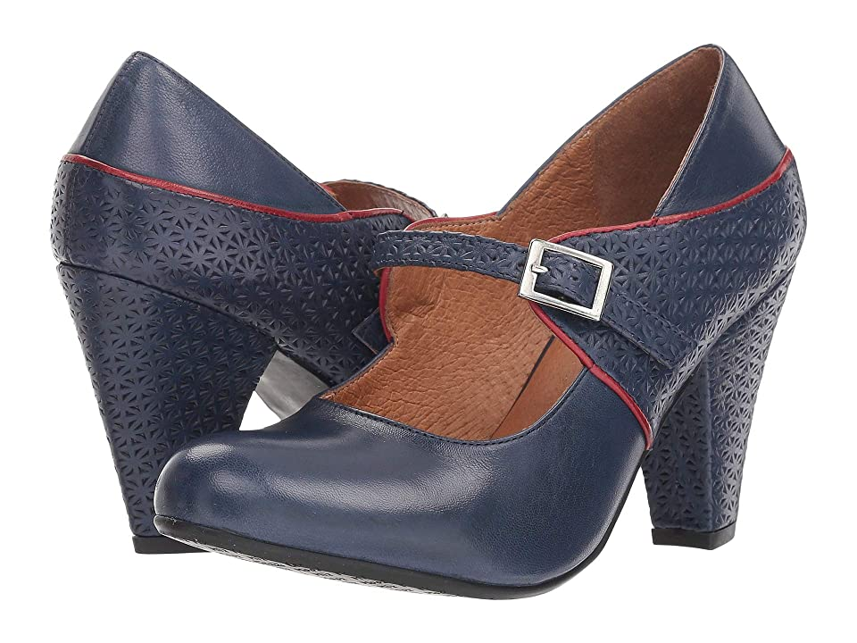 Vintage Style Shoes, Vintage Inspired Shoes Miz Mooz Chantelle Blue Womens Shoes $159.95 AT vintagedancer.com