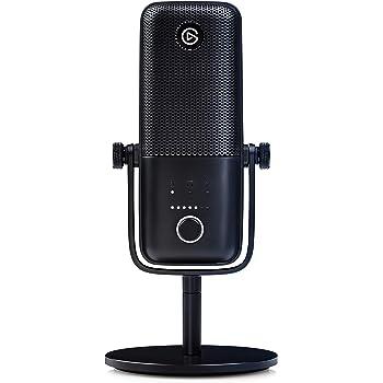 Elgato Wave:3 Microfono USB a Condensatore e Soluzione di Mixaggio Digitale, Tecnologia Anti-Clipping, Disattivazione Audio Capacitiva, Streaming e Podcasting