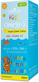 Natures Aid 150 ml Limón Sabor Kidz Omega-3 Vitamina y Minerales