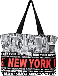 7b8d622beb00a Robin Ruth New York Skyline Canvas Tote Shoulder Bag