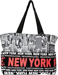 New York Skyline Canvas Tote Shoulder Bag