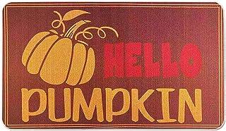 Hello Pumpkin Doormat 18 x 30 Inch,Fall Decorative Rug Thanksgiving Halloween Non-Skid Floor Mat Switch Mat Low-Profile Fl...