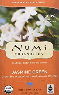 Numi Organic Jasmine Green Tea, Loose Leaf,18 Count ( Case of 6 )