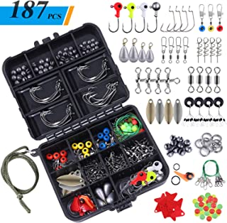 TOPFORT 187pcs Fishing Accessories Kit, Including Jig...