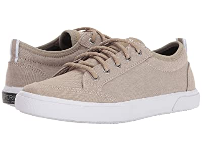 Sperry Kids Deckfin (Little Kid/Big Kid) (Khaki Chambray) Boys Shoes