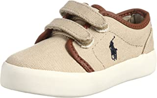 Polo Ralph Lauren Kids Ethan Low EZ Sneaker (Toddler/Big Kid) Khaki5.5 M US Toddler