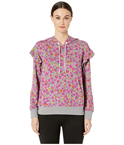 Kate Spade New York Athleisure Marker Floral Terry Hoodie (Active Heather) Women