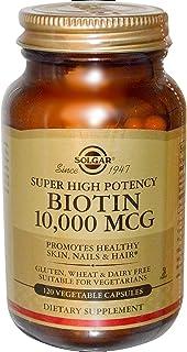 Solgar Biotin 10,000mcg 120 Vegetable Capsules