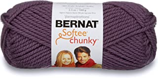 Bernat Softee Chunky Yarn, 3.5 Oz, Gauge 6 Super Bulky, Dark Mauve