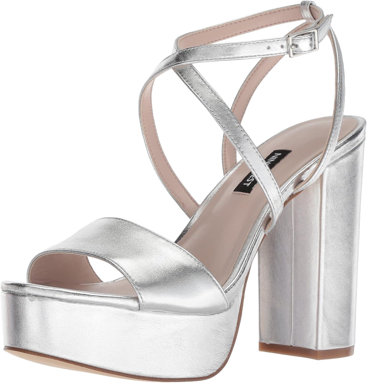 Nine West Damen Markando Metallic Sandalen mit Absatz
