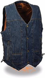 Milwaukee Men's S Blue 10 Pocket Vest with 2 Gun Pockets